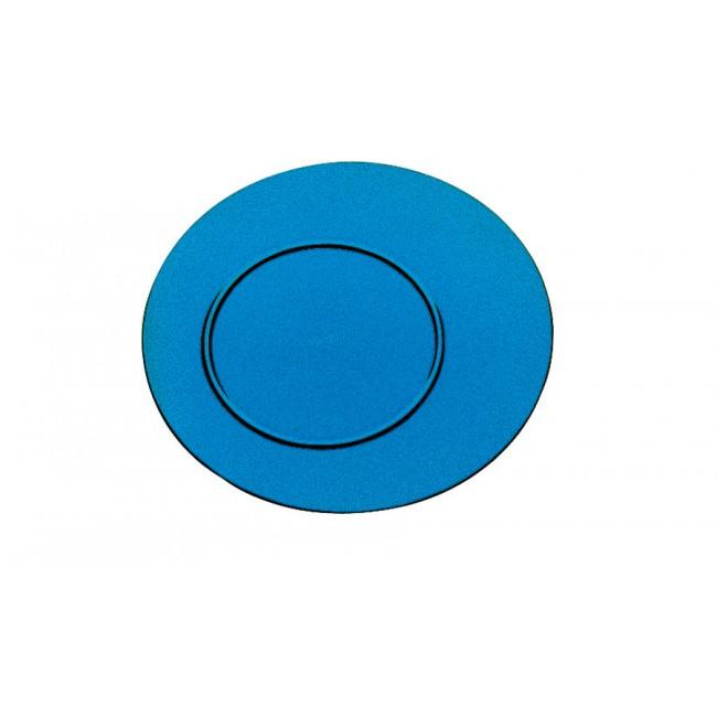 Assiette plate saphir Ø27cm en polycarbonate - Lot de 6