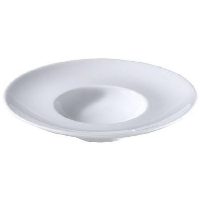 Assiette à dégustation blanche 26,5cm en porcelaine Louna - Pillivuyt