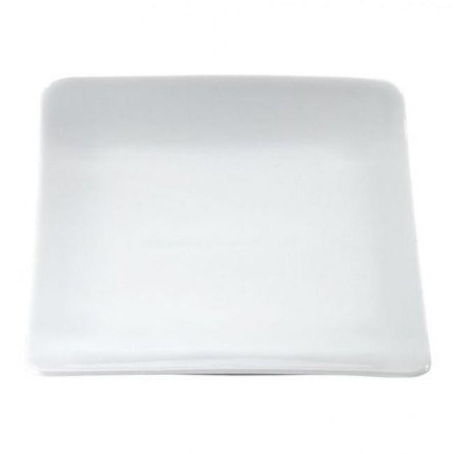 Assiette carrée blanche 16x14cm en porcelaine Vendôme - Pillivuyt
