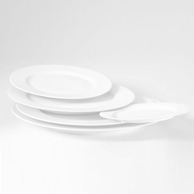 Assiette plate ronde blanche 22cm en porcelaine - Valencay - Pillivuyt