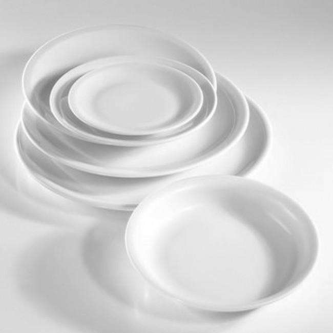Assiette plate ronde blanche 27cm en porcelaine - Bourges - Pillivuyt