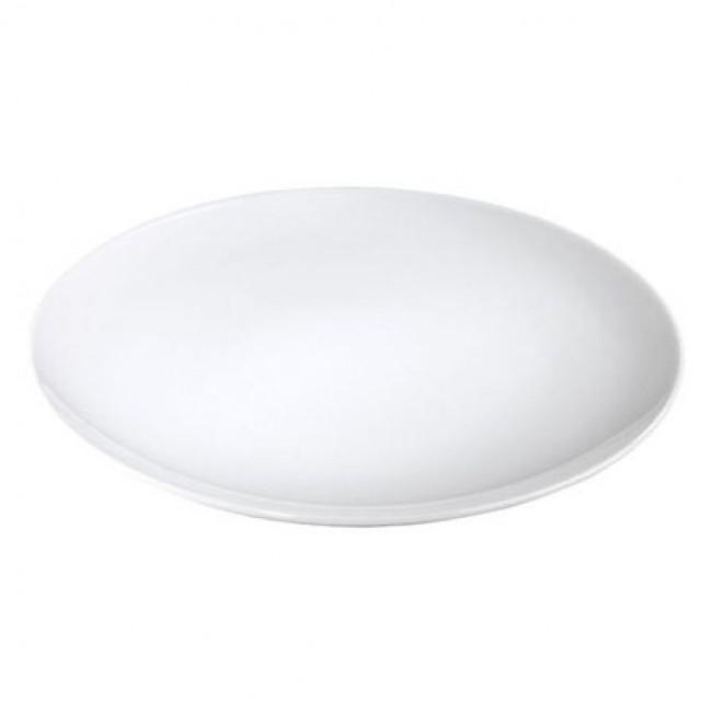 Assiette plate ronde blanche 28cm en porcelaine - Louna - Pillivuyt