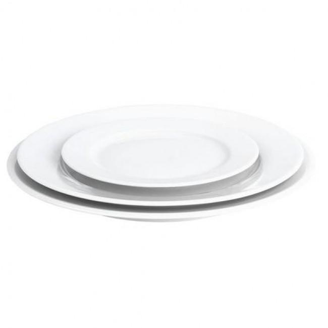 Assiette plate ronde blanche 20cm en porcelaine - Sancerre - Pillivuyt