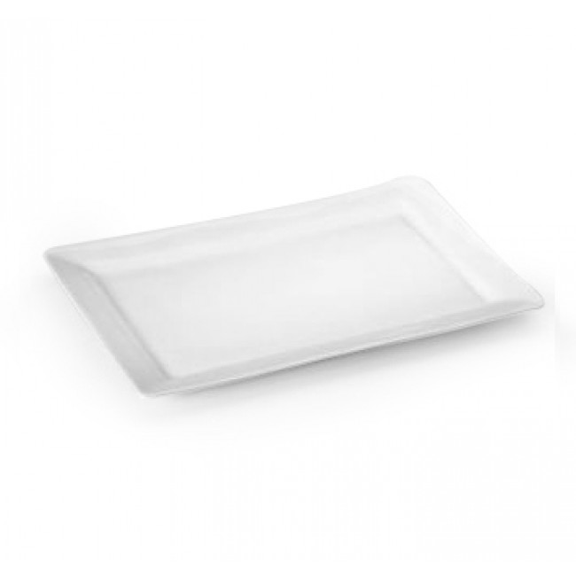 Assiette rectangulaire en porcelaine blanche 34x23cm - Quartet - Pillivuyt