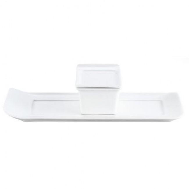 Couvercle à cassolette 7,4x5,5cm blanc en porcelaine Vendôme - Pillivuyt