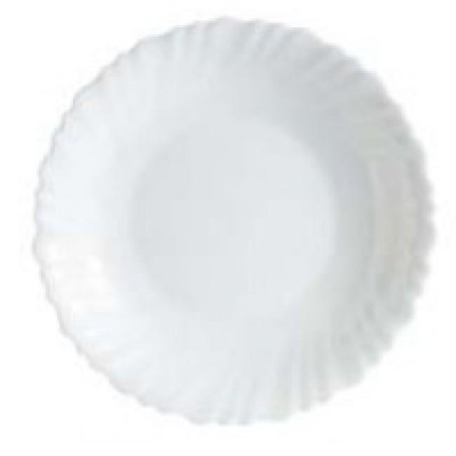 Assiette creuse ronde blanche 21cm en Arcopal - Arcoroc - Lot de 6