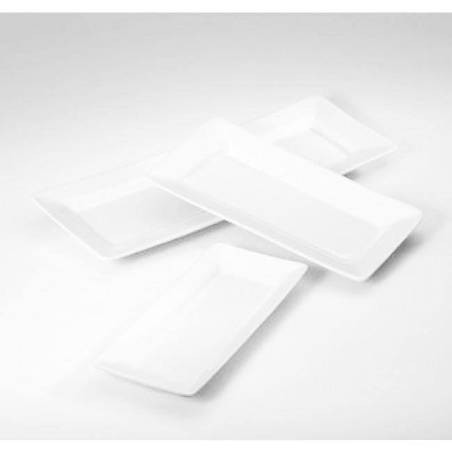 Plateau rectangulaire blanc 26x14cm en porcelaine - Quartet - Pillivuyt