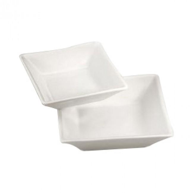Ravier carré blanc 14x14cm 30cl en porcelaine - Quartet - Pillivuyt