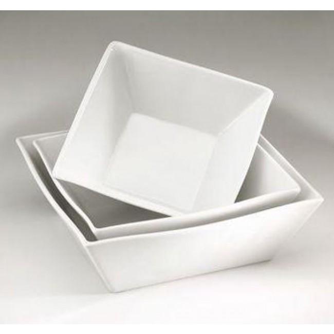 Saladier carré blanc 18x18cm 100cl en porcelaine - Quartet - Pillivuyt