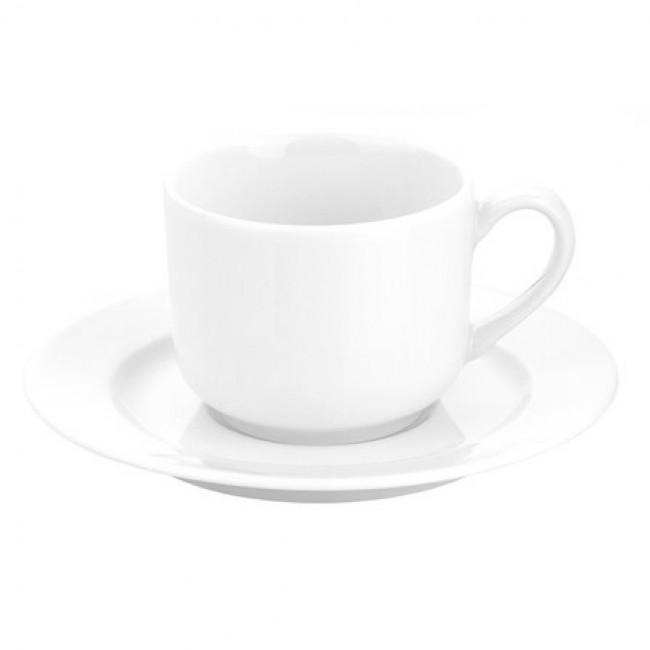 Soucoupe déjeuner blanche 16,7cm en porcelaine - Sancerre - Pillivuyt