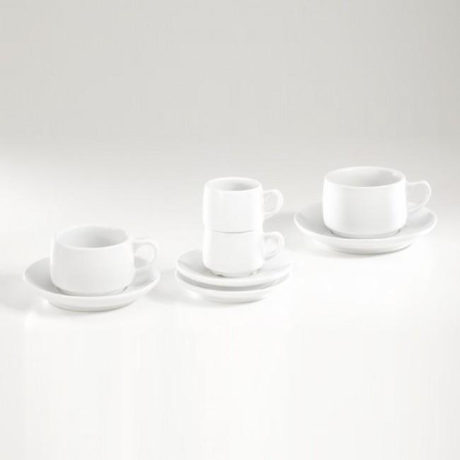 Sous-tasse à déjeuner 16,4cm blanche en porcelaine - Paris - Pillivuyt