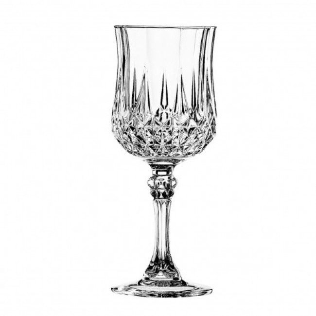 Verre à pied  vin 17cl - Lot de 6 - Longchamp - Cristal d'Arques