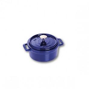 Cocotte en fonte ronde 10 cm bleu intense - Fondamentales - Staub