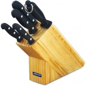 Bloc de 4 couteaux de cuisine et un fusil - coffret cadeau - Maitre - Arcos
