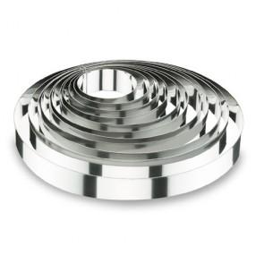 Cercle à mousse en inox 18/10 - hauteur 4,5cm - diamètre 12cm