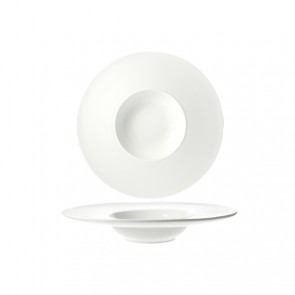 Coupelle hors d'oeuvre ronde blanche 22cm - Rings - Cosy & Trendy