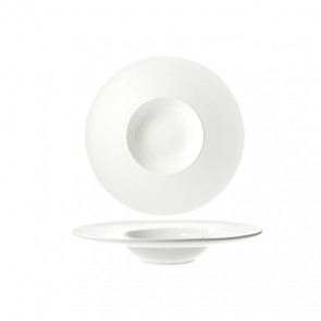 Coupelle hors d'oeuvre ronde blanche 30cm - Rings - Cosy & Trendy