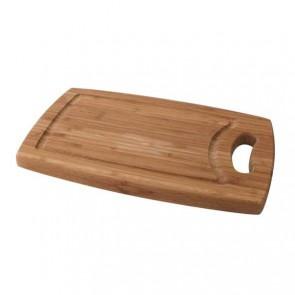 Planche à découper à rigole en bambou 29cm x 19cm x 1,8cm - Planche en bois - Cosy & Trendy