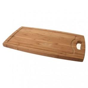 Planche à découper à rigole en bambou 42cm x 24cm x 1,8cm - Planche en bois - Cosy & Trendy