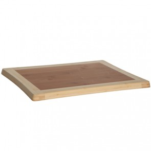 Planche à découper en bois de bambou 39cm x 30cm x 1,8cm - Benin - Cosy & Trendy