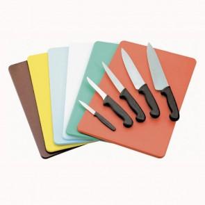 Planche à découper marron 40 x 30 x 1cm en polyéthylène - AZ Boutique