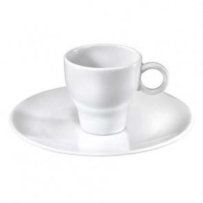 Soucoupe moka blanche 15cm en porcelaine - Louna - Pillivuyt
