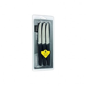 Couteau à steak noir - lame inox 11cm - Lot de 6 - Nova- Arcos
