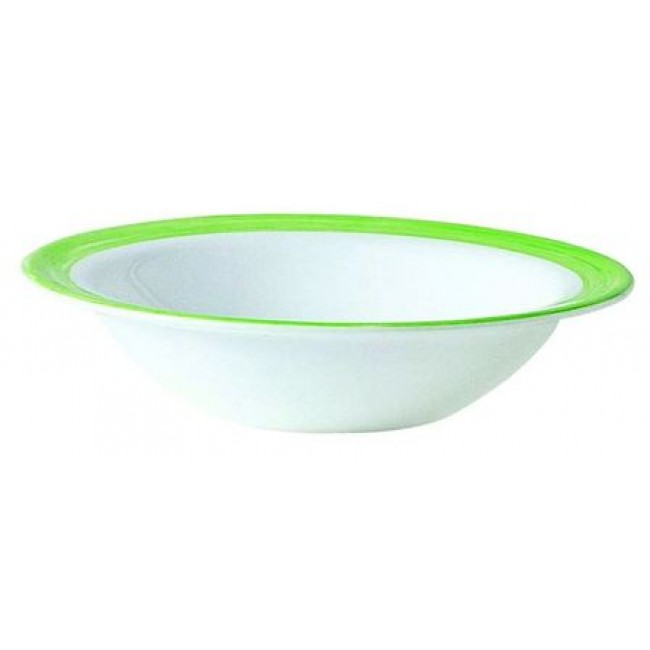 Coupelle empilable blanche/verte 12cm