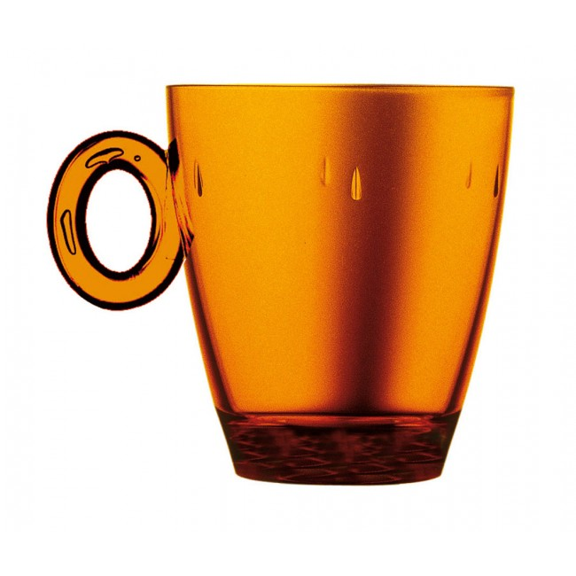 Mug ambre 33cl en polycarbonate - Lot de 6