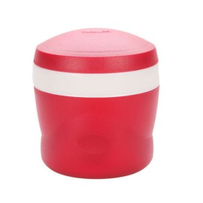 Porte aliment isotherme avec cuillère pliable 24cl rouge - Snack Jar - Thermos