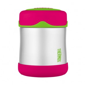 Porte-aliment isotherme inox 29cl rose et vert - Junior - Thermos