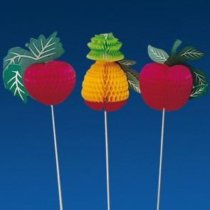 Pique décoration fruit coloré pour glace 20cm - Lot de 100 - Décorations glace - AZ boutique